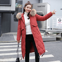 2018 New womens winter down jackets coats women High Quality Warm Plus size thickening Warm Parka Hood Over Coat MF025