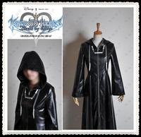 adult Halloween costumes kingdom hearts II cosplay costumes for men Leather jacket trench coat full set custom made