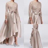 Элегантные кружева три четверти рукав вечерние платья Мать невесты платья для женщин праздничные на заказ