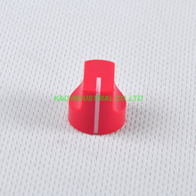 10pcs Colorful Rotary Control Vintage Plastic Red Knob 16x15mm for Guitar 6.35mm Shaft Amp Parts