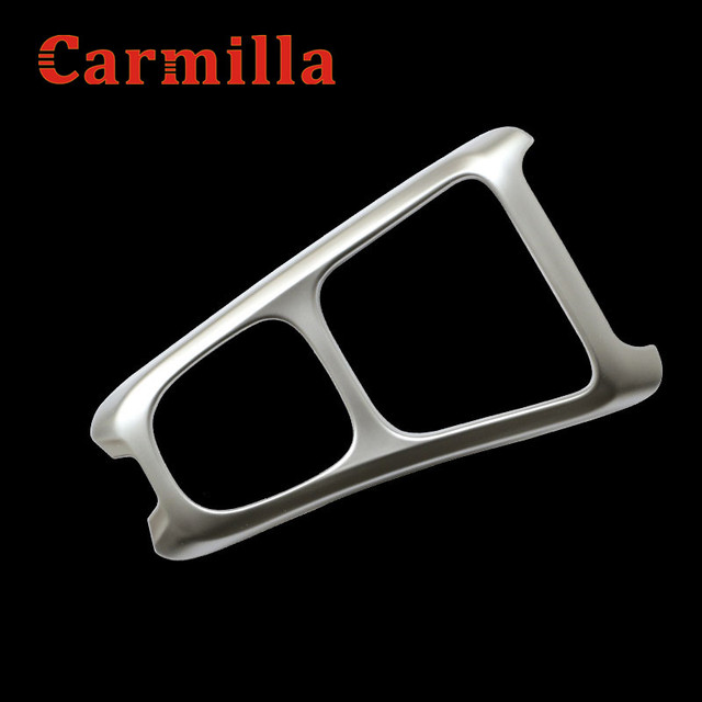 Carmilla Chrome Internal Gear Shift Panel Protective Frame Cover Trim Sticker Case for Jeep Compass 2017 2018 Car Accessories