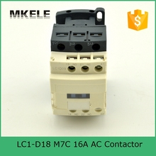 LC1-D18 3P+NO+NC 16A M7C high quality China telemechanic contactor 220v single phase magnetic contactor with silver contacts tesys d contactor 3p 50a lc1d50a lc1d50ale7 lc1 d50ale7 208v ac 208vac