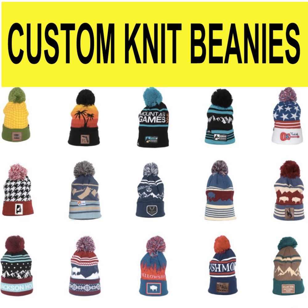 71e5a7b0b25093 Custom Made knitted Beanie Jacquard Knitted logo for Kids and Adult ski  headwear skull beanie winter