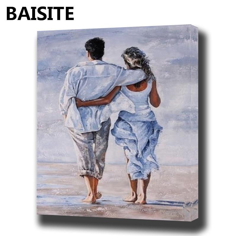 BAISITE Incorniciato Pittura A Olio Dai Numeri FAI DA TE Fiori Quadri Su Tela Dipinto Per Soggiorno Wall Art Home Decor E953