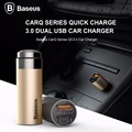 Baseus Carregador QC3.0 2.4A Dual USB Car Charger Adapter Phone Car Charger For iPhone Samsung LG HTC Xiaomi Sony Charger