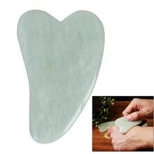 Natural Gua Sha SPA Jade Guasha Board Scraching Facial Eyes Scraping Massage Tool Health