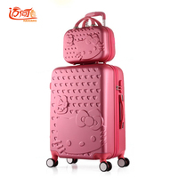 Hello Kitty travel luggage sets 2022242628 inch suitcase set with 14 make up case,suitcase kids,trolly bag for traveling