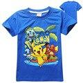 Pokemon Go Baby Мальчики Футболки 2016 Лето мода Новый Мультфильм Дети Топы Подростковая Одежда Для Мальчиков Одежда для Новорожденных дети тройники