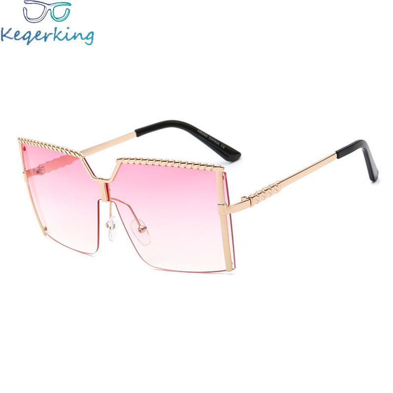 Women's Sunglasses Faithful Sunglasses Women Big Frameless Fashion Sun Glasses Marine Films Windproof Men For Women Square Eyewear Ks-62 Glasses Fema Women's Glasses