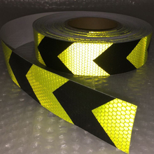 Fluorescent yellow arrow PET Reflective Tape Safety Warning for car