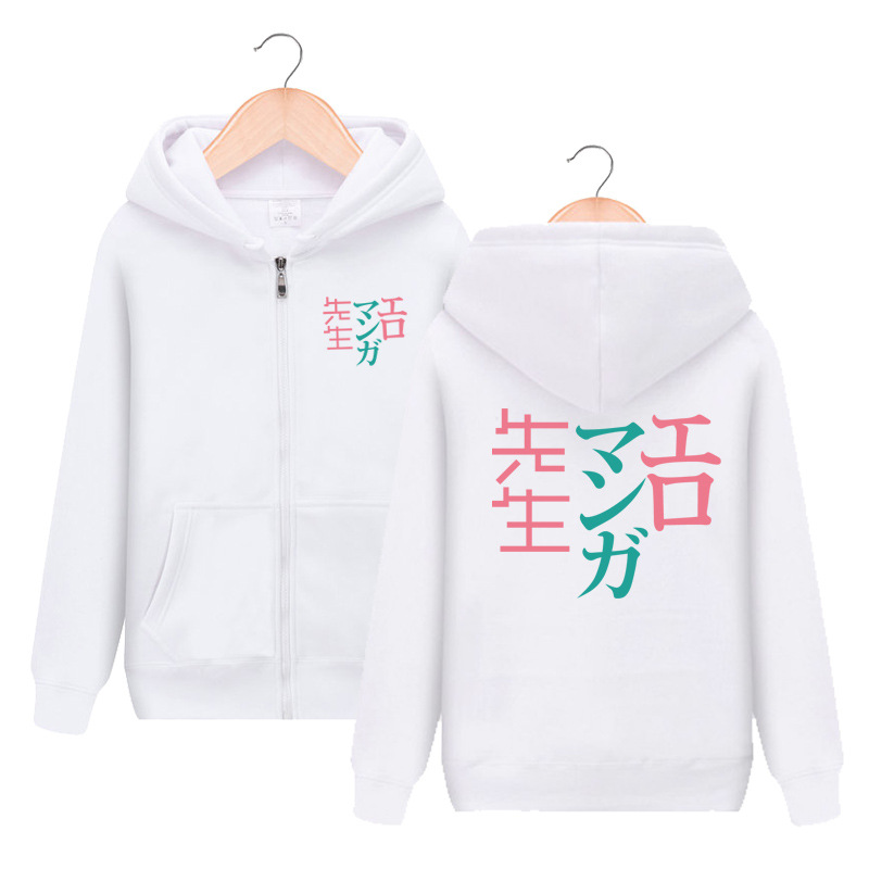 Anime Eromanga Sensei Izumi Sagiri Zipper Hooded Hoodie Cosplay Costume Men Women Casual Jacket Sweatshirt Fashion Streetwear