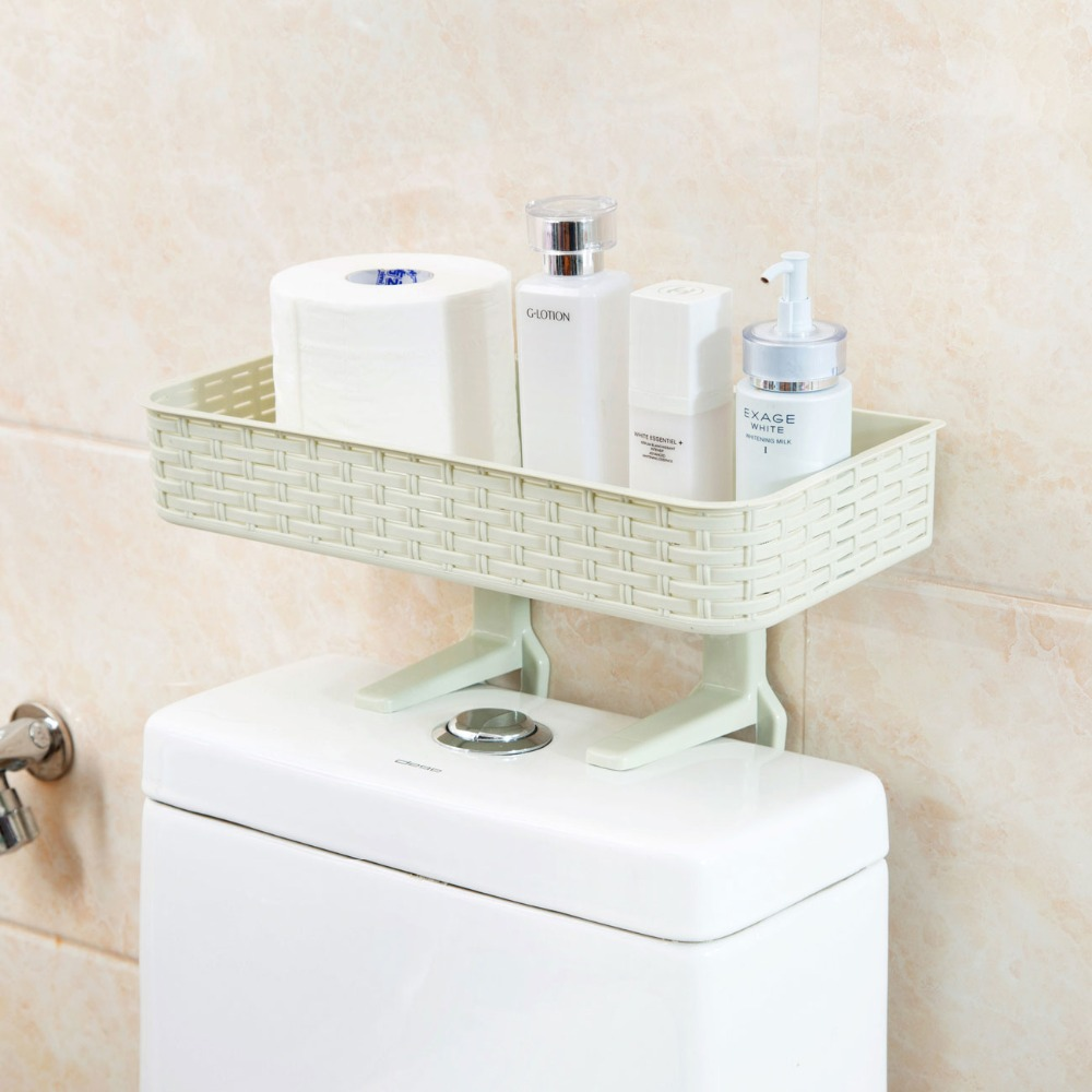 Bathroom Organizer Storage Rack Toilet Shelf Shampoo Soap Cosmetic Holder Wall Mounted Shower Shelves Imation Rattan Shaped