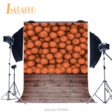 Laeacco Sports Basketballs Wall Wooden Floor Photography Backdrops Vinyl Baby Photo Backgrounds For Photo Studio Custom Backdrop цена