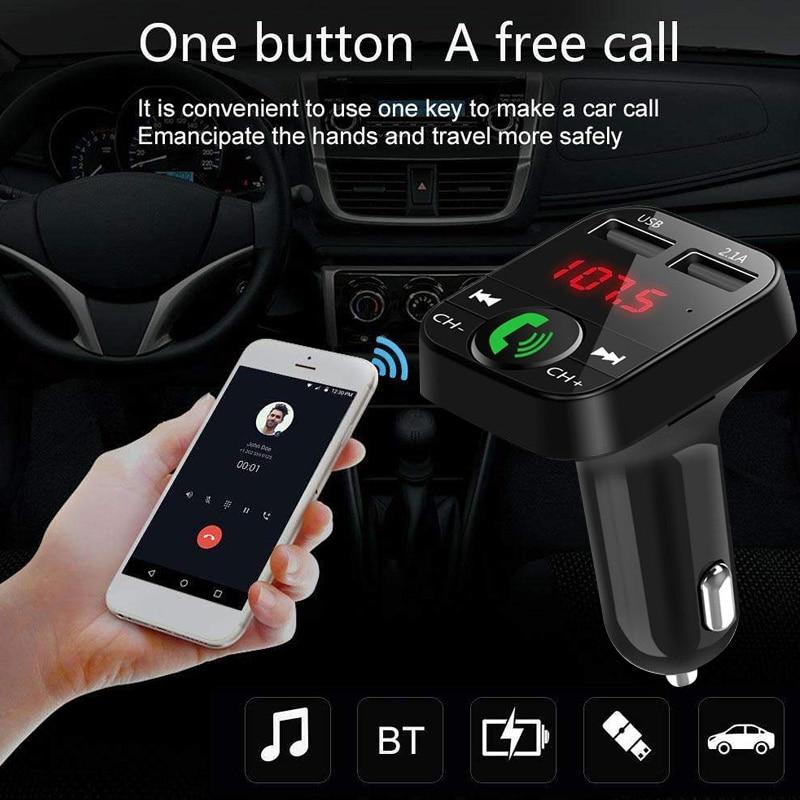 Быстрая зарядка светодиодный цифровой дисплей беспроводной Bluetooth приемник Bluetooth аудио ресивер FM-автомобильное зарядное устройство Универсальный