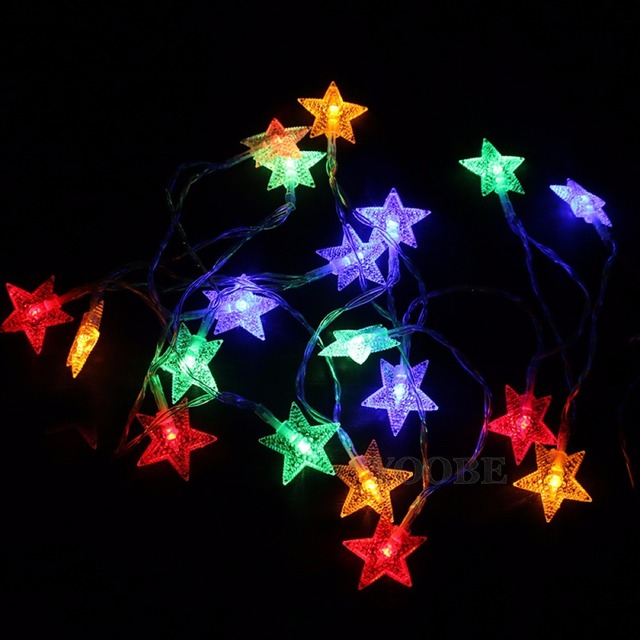 new 5m 50 star string fairy lights for wedding decorations home outdoor christmas tree decorations christmas