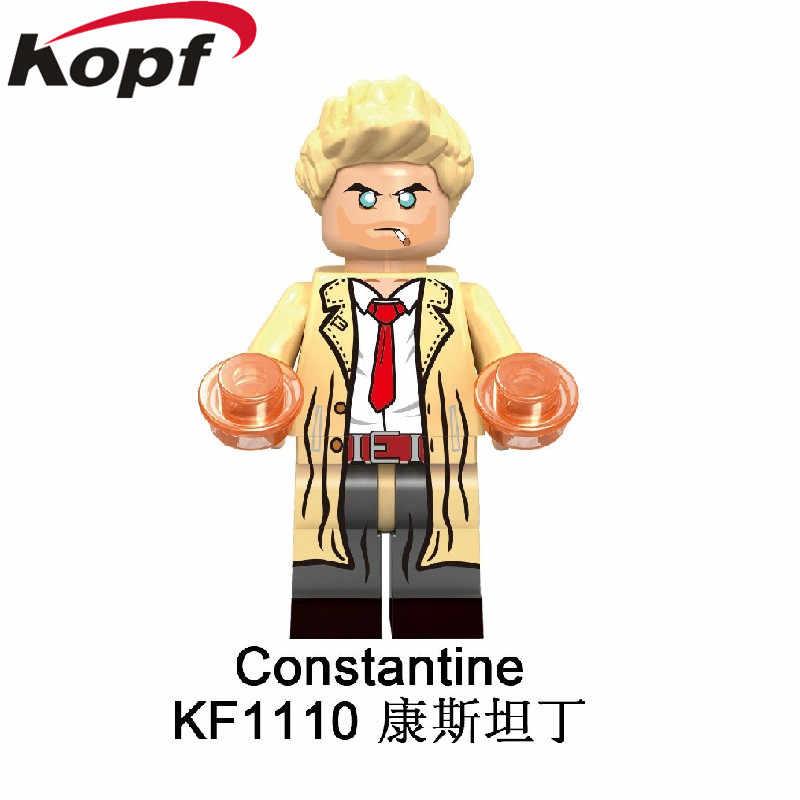 ขายเดียวบล็อกอาคารพลาสติก Super Heroes Deadshot คอนสแตนตินยาว Man ตัวเลขการกระทำอิฐของเล่นเด็ก KF6081