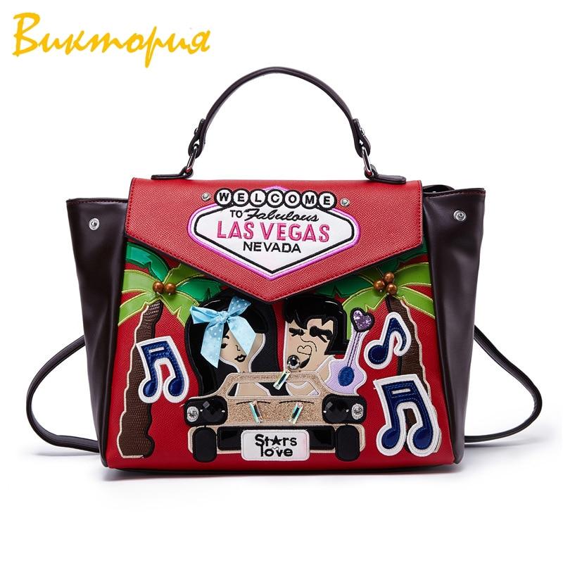 CHARA S BAG brand Designer Embroidery Shoulder bag women s Multifunction backpack Japanese style College Girl