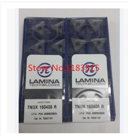 Free shopping 10Pcs Lamina TNUX160408R LT10 Lathe Cutting Insert Carbide Turning Tool Insert For steel and