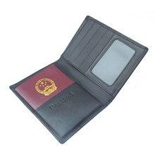 100% Véritable en cuir passeport Voyage titulaire nouveau style couverture du passeport en cuir avec Porte-Cartes de mode hommes Portefeuilles JIMEI-00755