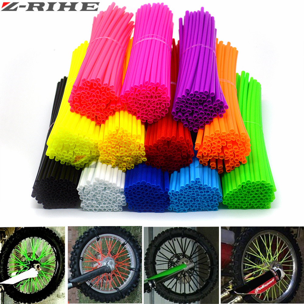 72 Pcs Universal Motorcycle Dirt Bike Enduro Off Road Rim Wheel spoke skins For KTM 65 85 250 125 SX KLX250 KLX450R 450 530 EXC 270mm front brake disc rotor for cr 125 250 500 crf 250r 250x 450x 450r 230f motocross supermoto enduro dirt bike off road