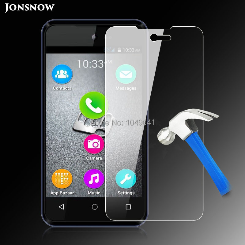 9H 2.5D Tempered Glass for Micromax D303 Blot Screen Protector Explosion-proof front LCD Guard High Clear 9H Hardness