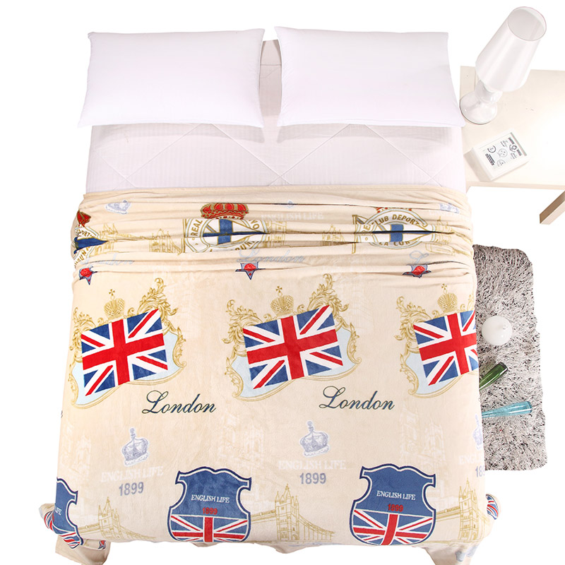 ФОТО Preppy style England flags summer throw multifunctional blankets coral fleece bedsheet multisize soft plaid bedspread linens