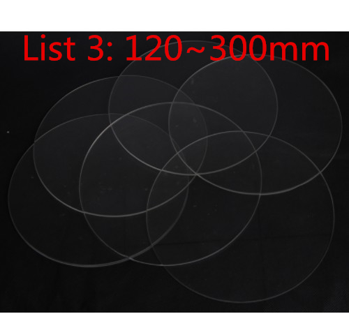 Office Electronics Adaptable 3d Printer Round Borosilicate Glass Plate Heated Bed Diameter 200/220/240mm Flat Transparent Tempered Glass For Kossel Delta