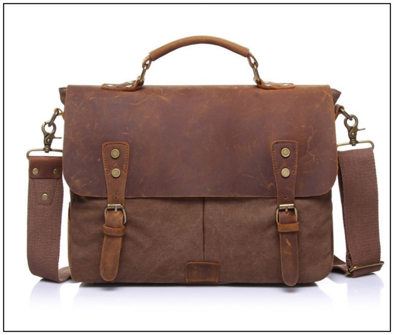 Foikvoon hombres Vintage bolso de mensajero de moda todo-fósforo bolsa de mensajero de marca hombre Popular Casual bolso de hombre bolsa de negocios - 2