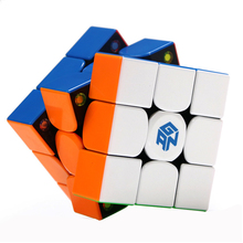 Gan GAN354M 3x3x3 Stickerless Magnetic Gan 354 M Magic Cube Speed Puzzle Game Cubes Educational Toys For Children Christmas Gift все цены