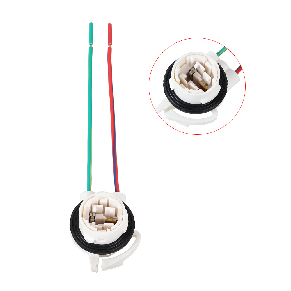 5pcs 3156 Wedge Bulb Socket Auto Brake Turn Signal Light Car 3157 Wiring Diagram Harness Wire Led Lamp Plug Sockets Tools In Base From Automobiles Motorcycles On