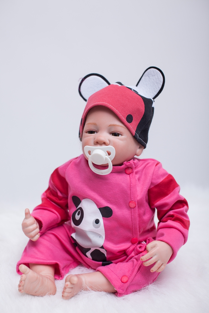 Newborn Realistic Fashion Doll Reborn babies dolls for girls toys lifelike Silicone baby Kids Playmates Birthday Gift 2017 new arrival silicone reborn baby doll toys lifelike newborn realistic babies doll fashion birthday gift kids brinquedos