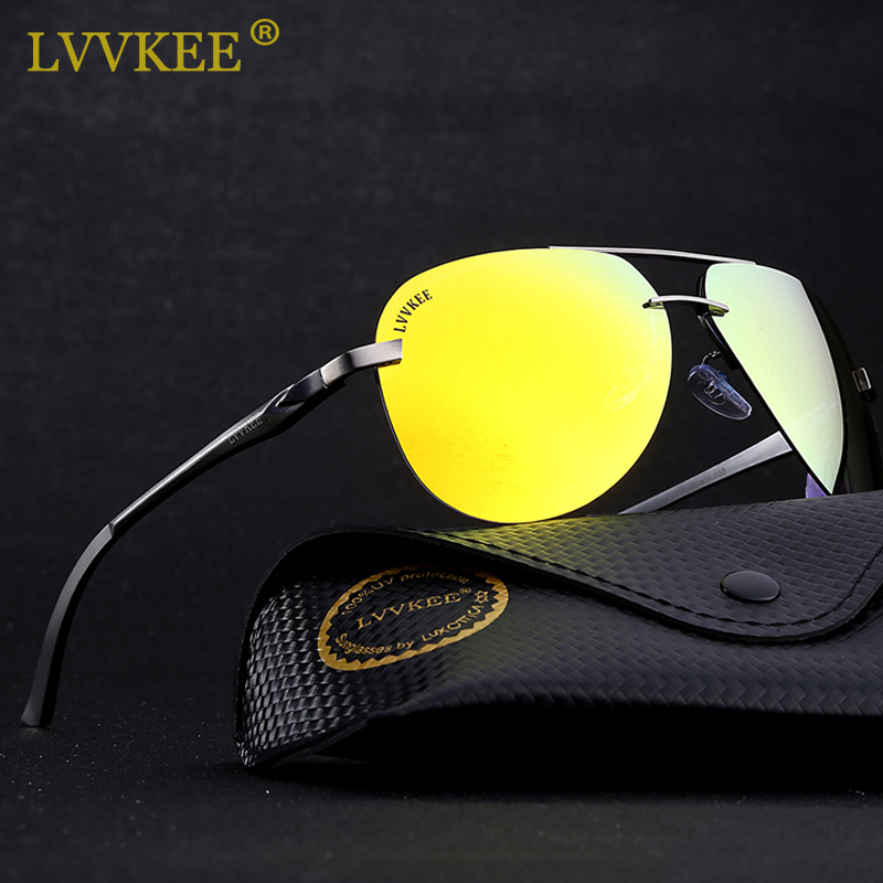 LVVKEE 2018 Brand Aluminum Magnesium Polarized Sunglasses Driving Sun glasses for Men/Women Fishing Eyewear With Original Logo