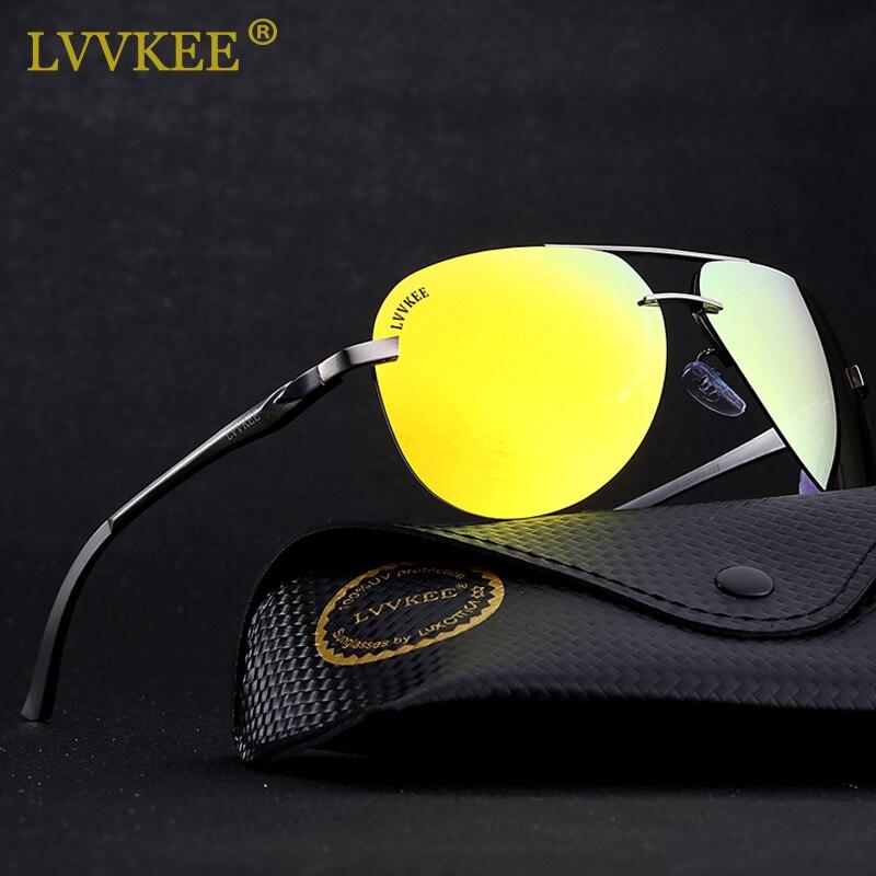 94727858b7 Best buy LVVKEE 2018 Brand Aluminum Magnesium Polarized Sunglasses aviation Sun  glasses for Men Women fishing Eyewear With Original Logo online cheap
