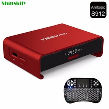 Shinsklly T95U PRO Android 6.0 Smart TV Box 2 GB/16 GB Amlogic S912 Octa core de Doble Banda WiFi VP9 Kodi H.265 UHD 4 K Set top Player