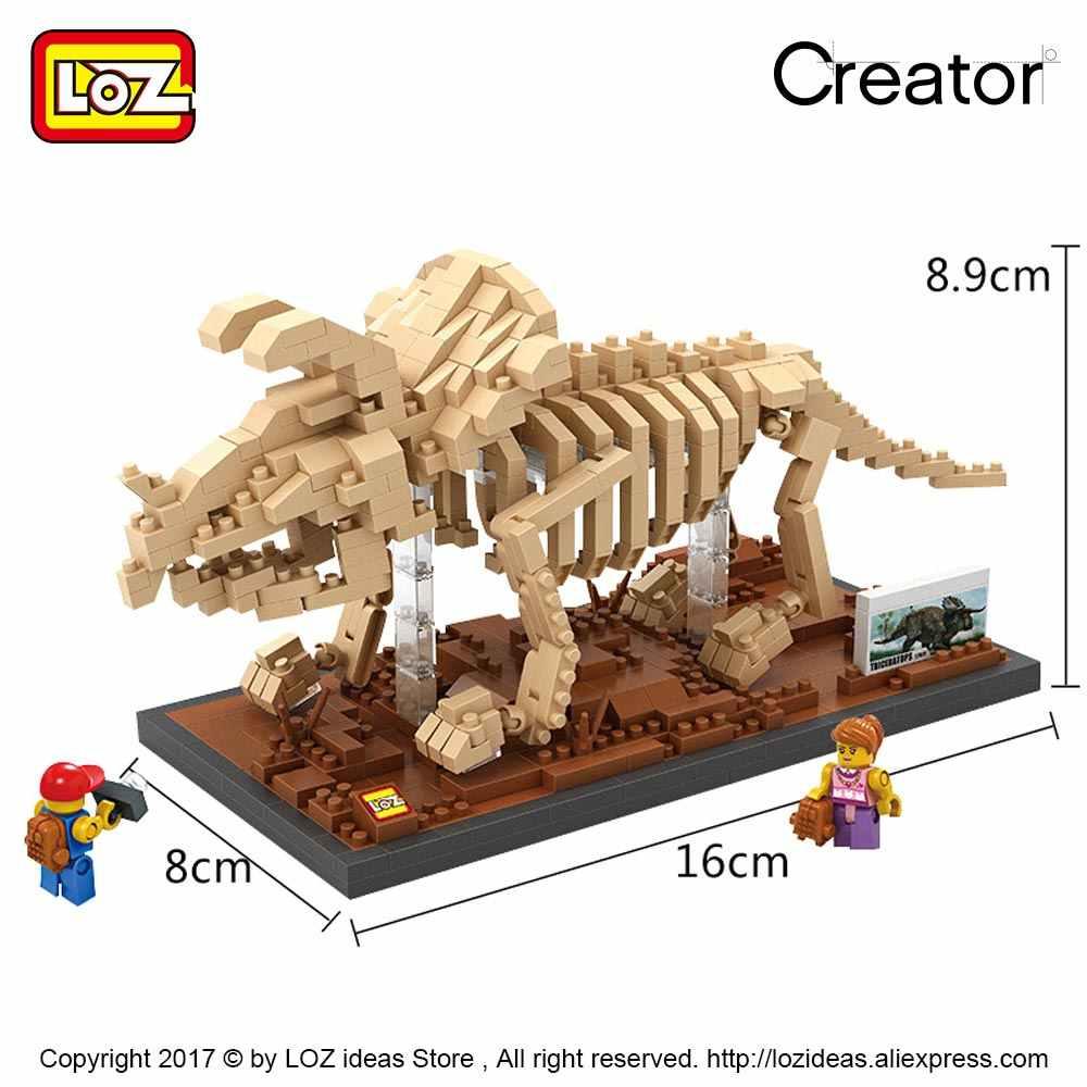 Triceratops//Dinosaur Skeleton Gift//Birthday Loz Building Blocks