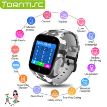 Torntisc Kids Smart Watch Colorful Screen GPS WIFI SOS one-click Call Location 600 Mah Anti Lost Monitor Kid smartwatch(China)