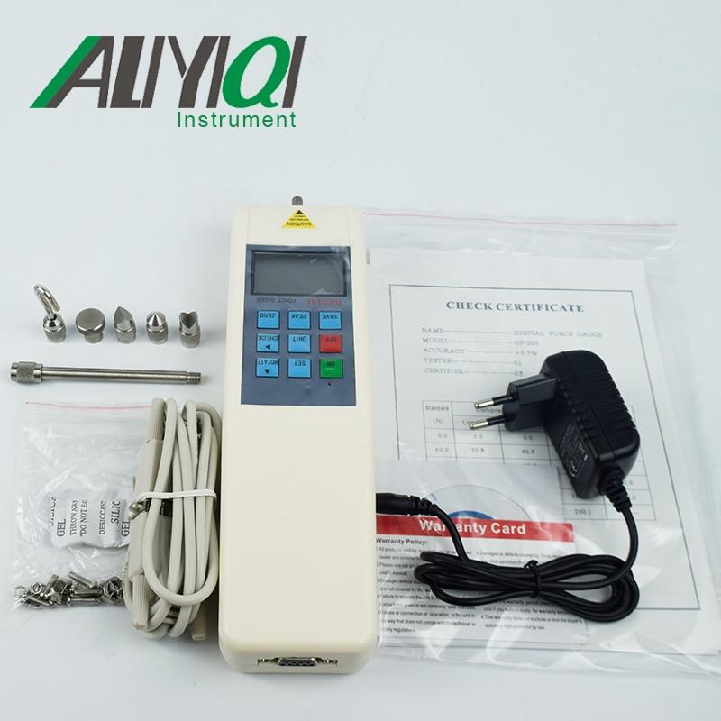 ЦИФРОВОЙ динамометр(HF-50) Push Pull Force калибровочный динамометр с RS232 5 кг динамометр