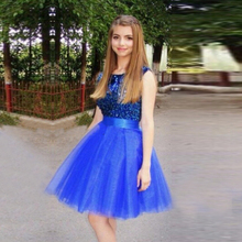 Beautiful Royal Blue Ball Gown Homecoming Dresses 2017 with Beaded Top Girls Knee Length Graduation junior Party Prom Gowns VH29