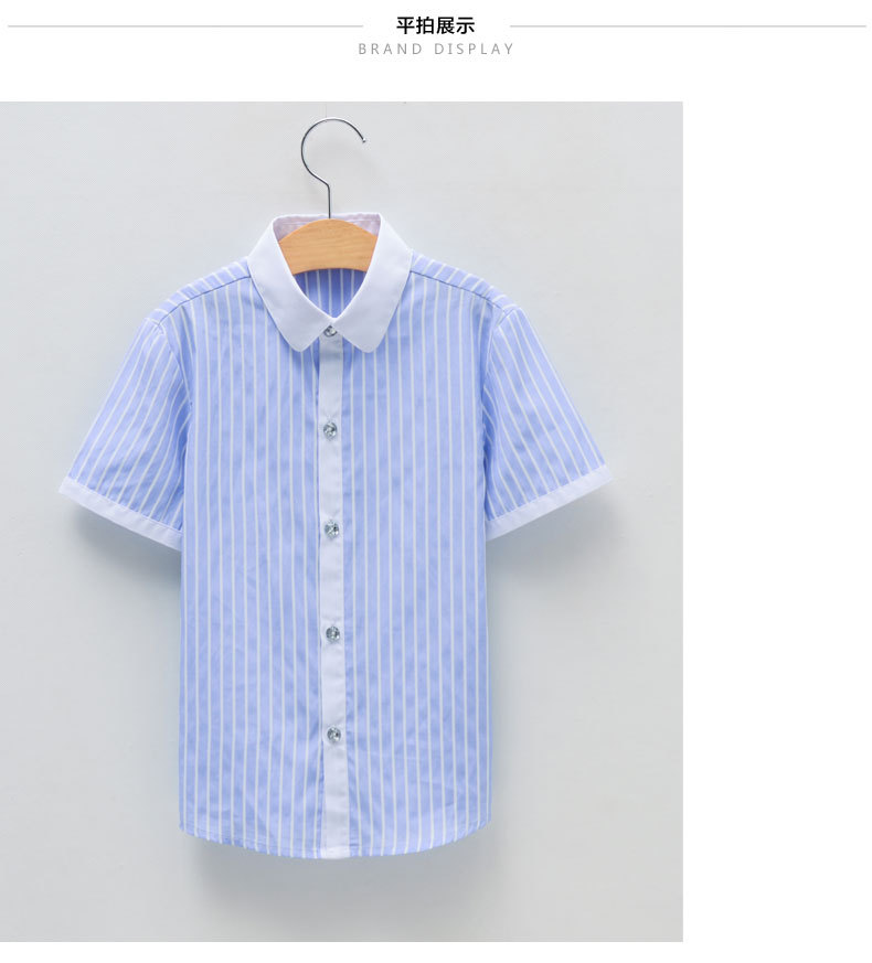 DHL 8 pieces / wholesale boys shirts Summer childrens clothing kids short sleeve shirts with collar tie lovely beard baby shirtDHL 8 pieces / wholesale boys shirts Summer childrens clothing kids short sleeve shirts with collar tie lovely beard baby shirt