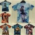2015 homens/mulheres camiseta anime LOL/Dota 2/marca dos desenhos animados 3d impressão tshirt crossfit aptidão camisetas masculina hombre camisetas