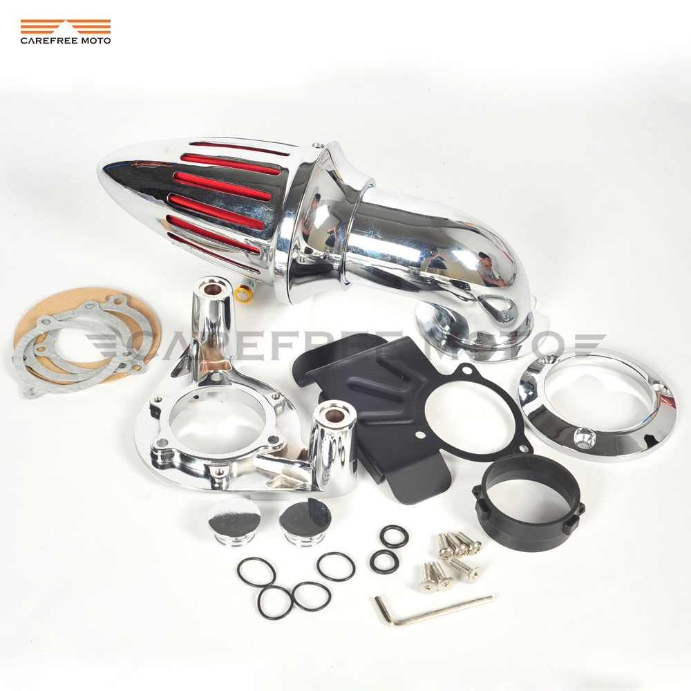 Chrome Aluminum Motorcycle Spike Air Cleaner Intake Filter case for Harley Sportster XL 883 1200 XL883 1991-2006 chrome aluminum motorcycle kit cone spike air cleaner intake filter case for harley cv carburetor delphi v twin