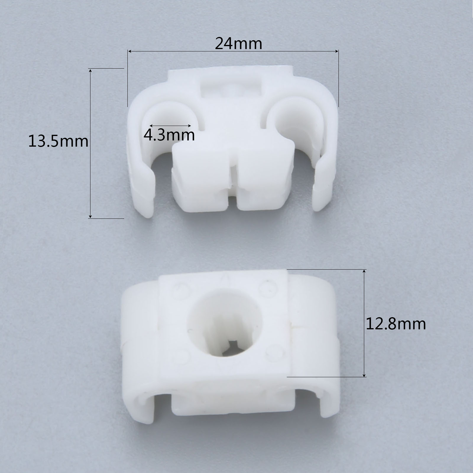 Image 2 - 811611797 20Pcs Brake Cable Bracket Pipe Body Retaining Clip Holder  For Golf Je tta Passat For Audi A4 A6 For Skoda For Seat-in Auto Fastener & Clip from Automobiles & Motorcycles