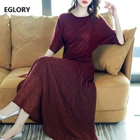 Two Pieces Set Sweater Suit Women Wool Knitted Tops Pullover+Warm Knit Long Maxi Skirt Suit Casual Ladies Sweater Set Female