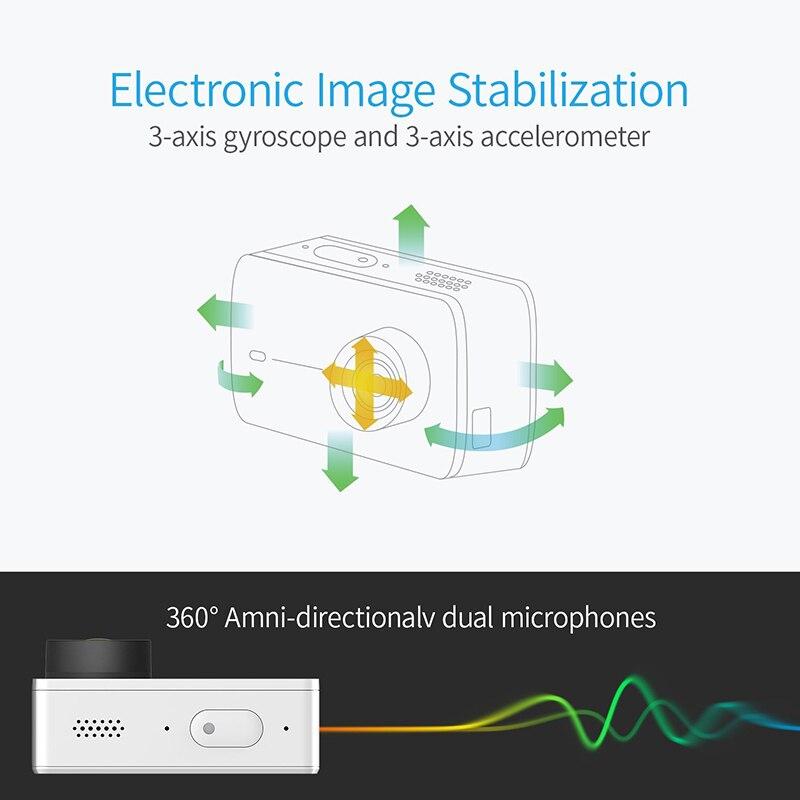 YI 4K Action et sport caméra 4 K/30fps vidéo 12MP Image brute avec EIS commande vocale Ambarella A9SE puce 2.19 pouces écran tactile - 4