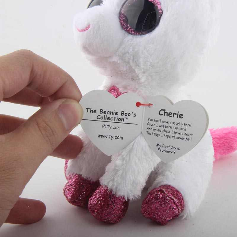 ... Ty Beanie Boos Plush Animal Doll Cherie the Unicorn With Heart Soft  Stuffed Toys With Tag ... 495e24741d9c