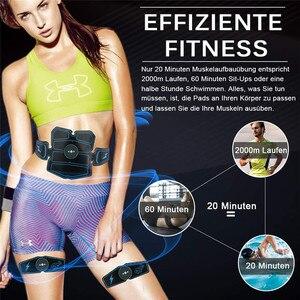 Image 2 - 8 sztuk bezprzewodowy stymulator mięśni trener inteligentny trening brzucha szkolenia elektryczne odchudzanie naklejki wyszczuplanie ciała pas Unisex