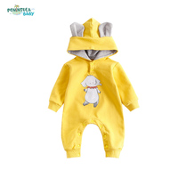 2017 Spring Autumn Baby Hooded Rompers Animal Printed Kids Jumpsuits Infant Roupas Para Bebes Newborn Girl