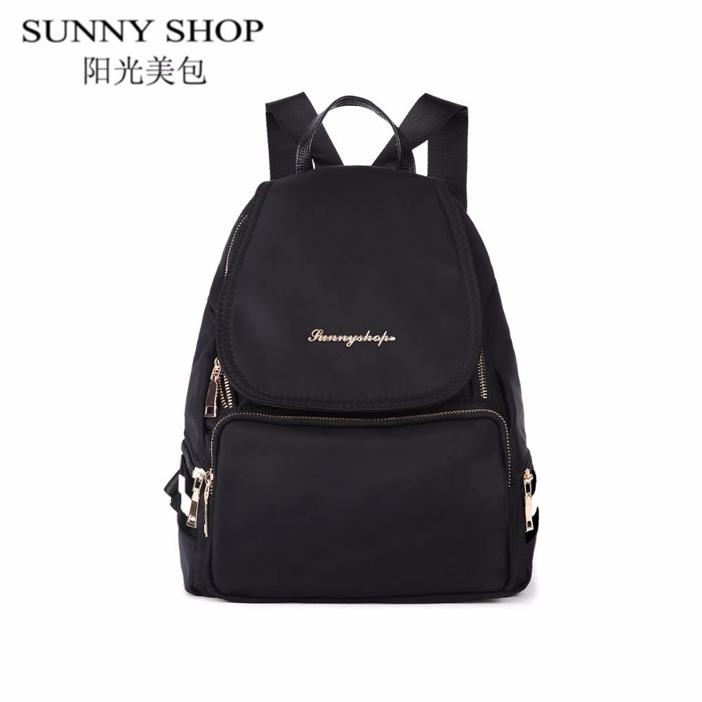 Waterproof Nylon backpack women Student school bags for girls Backpacks Female fashion Casual Travel Bag Ladies mochila feminina vintage casual leather travel bags famous brand school backpacks women bag mochila backpack lovely girls school bags ladies bag