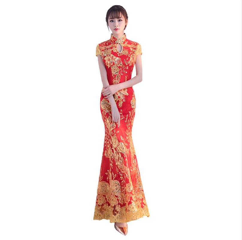 Nouvelle robe Cheongsam Sexy dentelle mariage Qipao femmes traditionnel chinois nouvel an Costume Style Oriental robes de grande taille