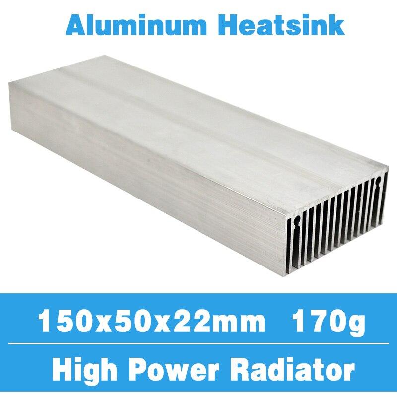 150x50 라디에이터 방열판 알루미늄 방열판 냉각 냉각기 LED 트랜지스터 IC 모듈 전원 PBC 방열 LED 칩